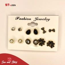 Earrings 6 pieces/ 97 den.
