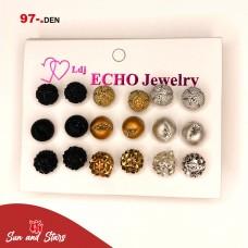 Earrings 9 pieces/ 97 den.