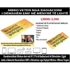 Mbrojtës nga rrezatimi i frekuencave të dëmshme EMF, të celularëve, wifi etc…Çmimi 3.99 + posta  = 8 Euro
